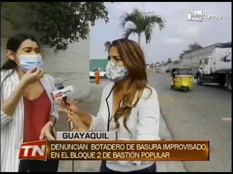 Denuncian botadero de basura improvisado en el bloque 2 de Bastión Popular