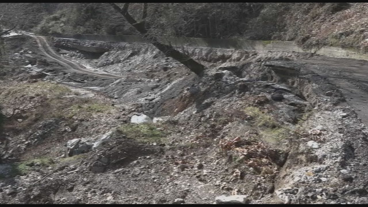 Τεράστιες ζημιές από τις κατολισθήσεις στο Πήλιο