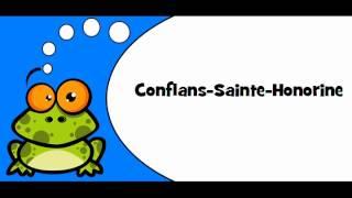 Conflans-Sainte-Honorine France  City pictures : Pronounce like a French # Conflans Sainte Honorine