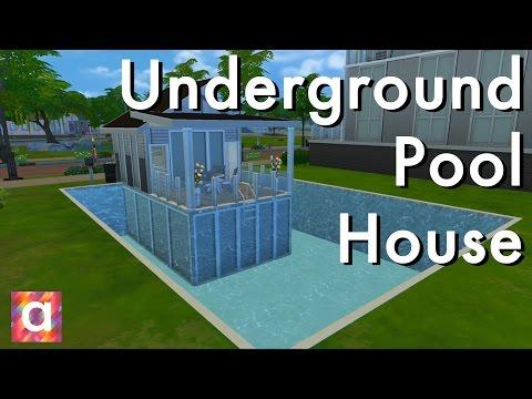 Underground Pool Home Sims 4 Build
