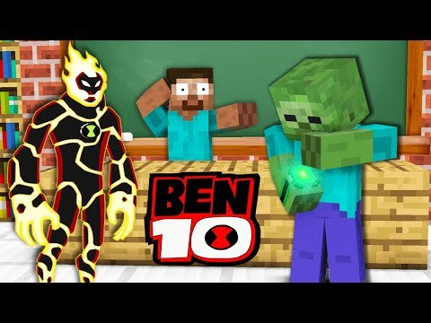 Monster School : BEN 10 ALIEN GAME CHALLENGE - Mnecraft Animation