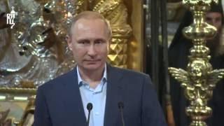 В.В. Путин посетил Русский на Афоне Пантелеимонов монастырь