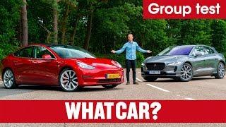 Video 2019 Tesla Model 3 vs Jaguar I-Pace SUV review – which is best? Electric car showdown   What Car? MP3, 3GP, MP4, WEBM, AVI, FLV Agustus 2019