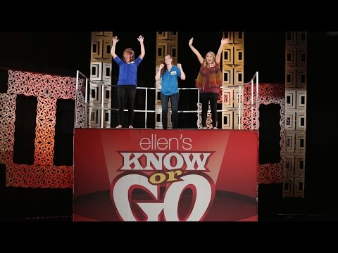 go - Ellen challenged three excited members of her audience to a game on her infamous Know or Go machine!