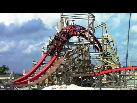 offride - First came New Texas Giant at Six Flags Over Texas, then Outlaw Run at Silver Dollar City.and now here's Iron Rattler at Six Flags Fiesta Texas, The third cu...