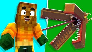 Minecraft - Pranking My Friend With Aquaman Armor in Crazy Craft | JeromeASF