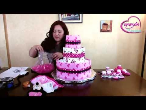 como hacer pasteles - Como hacer un pastel de pañales. En este video les enseño como hacer una pastel de pañales, de una forma fácil, sencilla y de bajo costo, espero les guste. S...