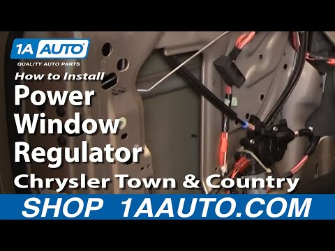 How to install replace power window regulator chrysler for Window motor repair cost