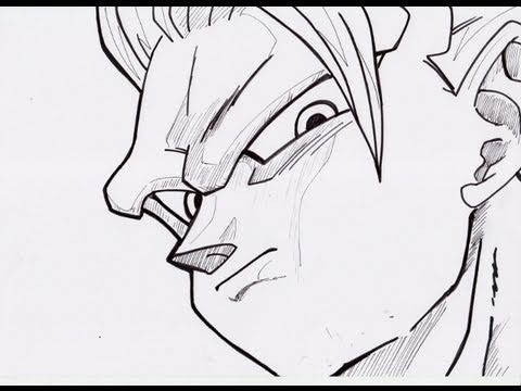 Super Saiyan 3 Goku Drawings How to Draw Goku as a Super