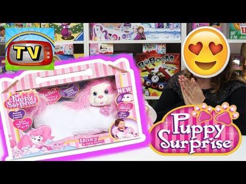 PELUCHE PUPPY SURPRISE CANE CAGNOLINO INTERATTIVO, Video per bambine e ragazze , Apertura giochi