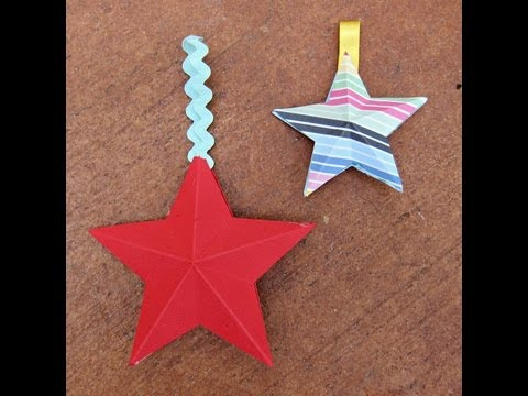 Make 3D Paper Stars with American Crafts Papers