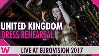 """Lucie Jones — the UK's Eurovision 2017 singer — sings """"Never Give Up On You"""" during the Semi-Final 1 dress rehearsal. BUY EUROVISION T-SHIRTS: http://wiwiblo..."""