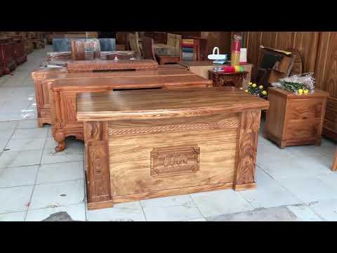 Bàn giám đốc gỗ Hương Xám 1m4 cao cấp - ĐỒ GỖ CƯỜNG NGA