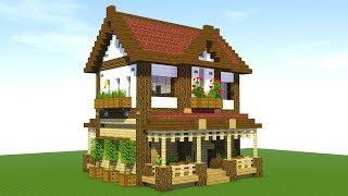 Minecraft: How To Build A Suburban House Tutorial (#1)
