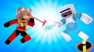 LITTLE KELLY FIGHTS FROZONE! INCREDIBLES   Minecraft Little Kelly