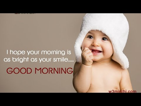 Cute quotes - Good morning WhatsApp status Smile quotationsCute baby smiles Happy morning