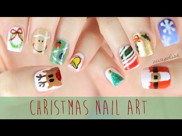 Christmas Nail Art Guide Easy Christmas Nail Art Designs Diy