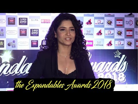 Ankita Lokhande At Red Carpet Of Expandables Awards 2018