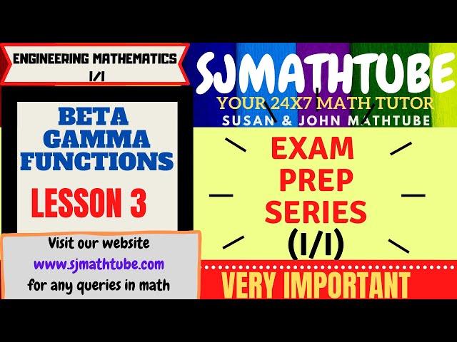 Beta Gamma Function (3)