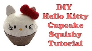 DIY Hello Kitty Cupcake Squishy Tutorial - How To - YouTube