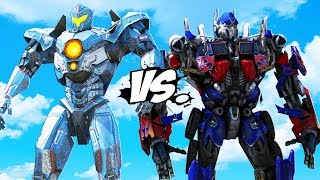 Video PACIFIC RIM vs TRANSFORMERS - Optimus Prime VS Gipsy Avenger MP3, 3GP, MP4, WEBM, AVI, FLV Juli 2018