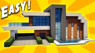 Minecraft: Easy Modern House Tutorial - How to Build a House