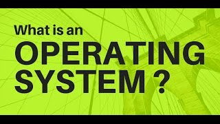 Operating System Introduction/What is an OS?