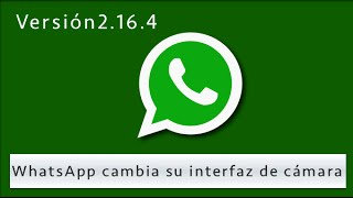 WhatsApp la popular aplicación en su versión para Android, cambia la interfaz de fotos, y añade en su última versión una tira para ver las últimas fotos realizadas con la cámara.Descargar WhatsApp 2.16.4 https://www.whatsapp.com/android/