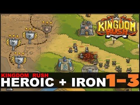 KINGDOM RUSH - Прохождение (Heroic+Iron 1-3)