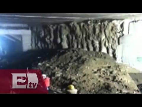 Suspenden servicio de L2 del Metro, de Taxqueña a Xola, por deslave
