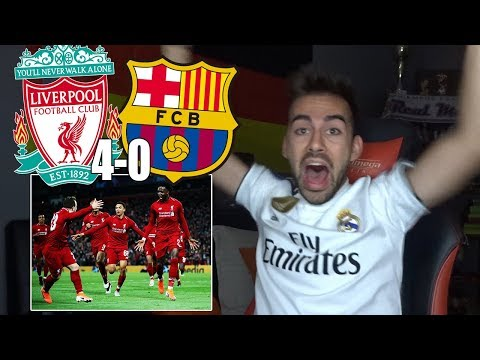 HINCHA Del REAL MADRID Reacciona Al LIVERPOOL 4-0 FC BARCELONA Semifinal UEFA Champions League 2019