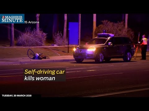 Self-driving car kills woman.