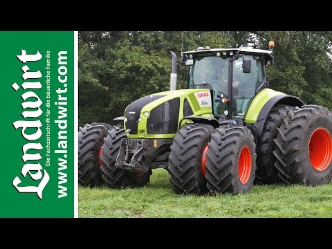 axion - Claas ergnzt sein Traktorenprogramm mit der neuen Baureihe Axion 900. Auf einem Grobetrieb in der Nhe von Leipzig gab uns Claas die Mglichkeit, die neuen...