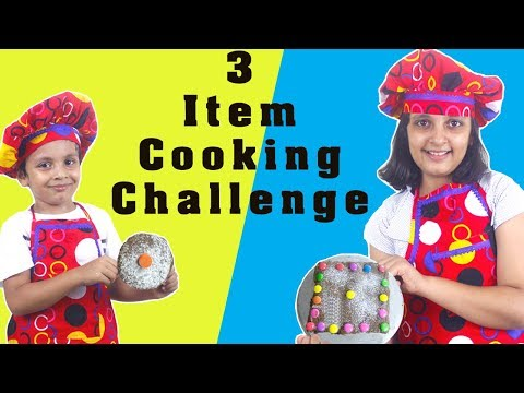 3 Item Cooking Challenge || #KidsActivity #Fun Chocolate Cake || #AayuAndPihuShow