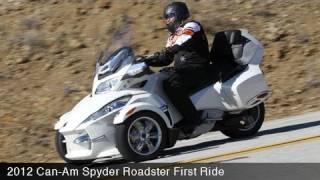 9. 2012 Can-Am Spyder Roadster First Ride - MotoUSA