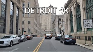 Michigan City (IN) United States  City pictures : Driving Downtown - Detroit Michigan USA