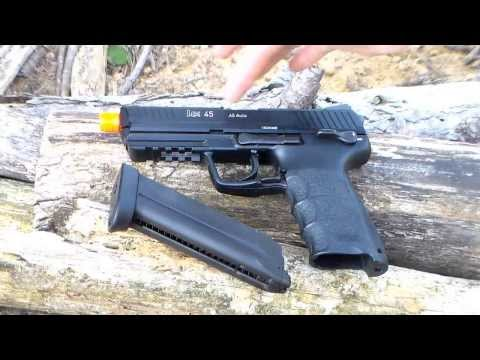KWA HK45 Gas BlowBack Airsoft Pistol Review
