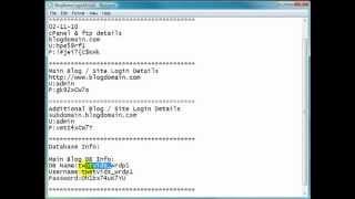 WordPress Video Tutorials - MySQL Database Creation