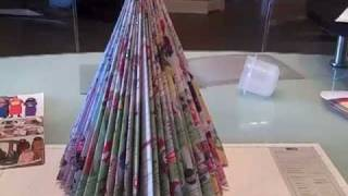 Recycled Magazine Tree as seen on Martha Stewart - YouTube