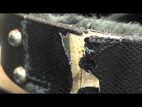 Gibson Les Paul Guitar Hard Case: Crack Repair - Ghetto Hombrew Style. (видео)