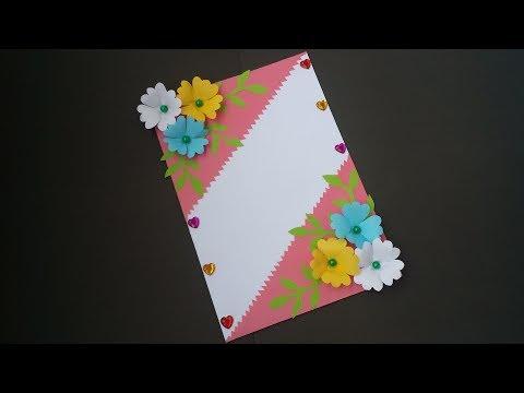 Birthday greetings - DIY: Handmade Greeting Card!! How to  Make Paper Card for Birthday/Greetings/Valentine day!!