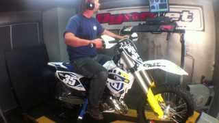 4. 2014 Husqvarna TC 125 two-stroke on dyno