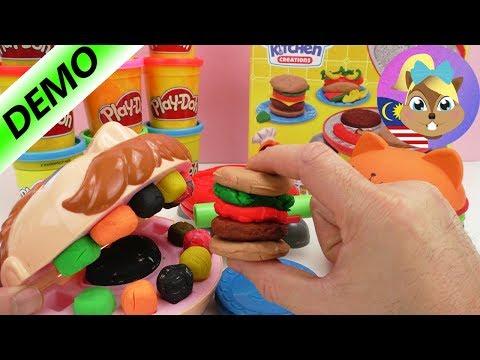 Play doh - Play-Doh Burger Party dengan Dr Gigi Goyang - Kita uji Burger Set