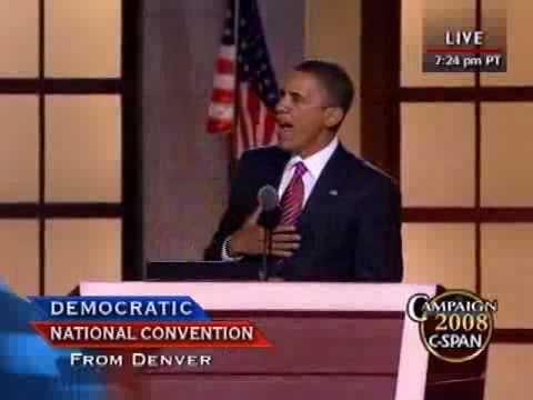 C-SPAN: Sen. Barack Obama's Full Speech to the DNC