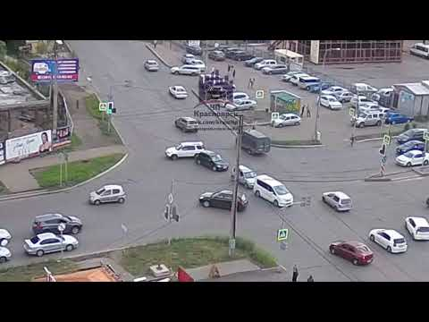 Взлетная - Весны - Аэровокзальная 23.08.2018 ЧП Красноярск - DomaVideo.Ru