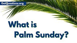 What is Palm Sunday, and what does the Palm Sunday story have to do with Holy Week  Passion Week? In this Palm Sunday video, Pastor Nelson with Bible ...
