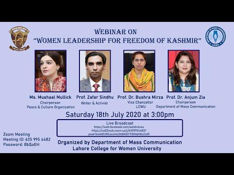 """""""Women Leadership for Freedom of Kashmir"""""""