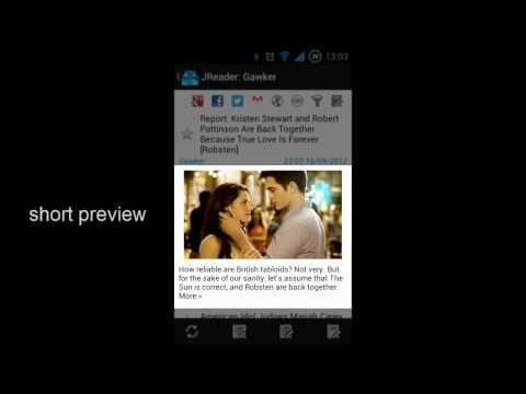 Video of JReader (Google Reader   RSS)