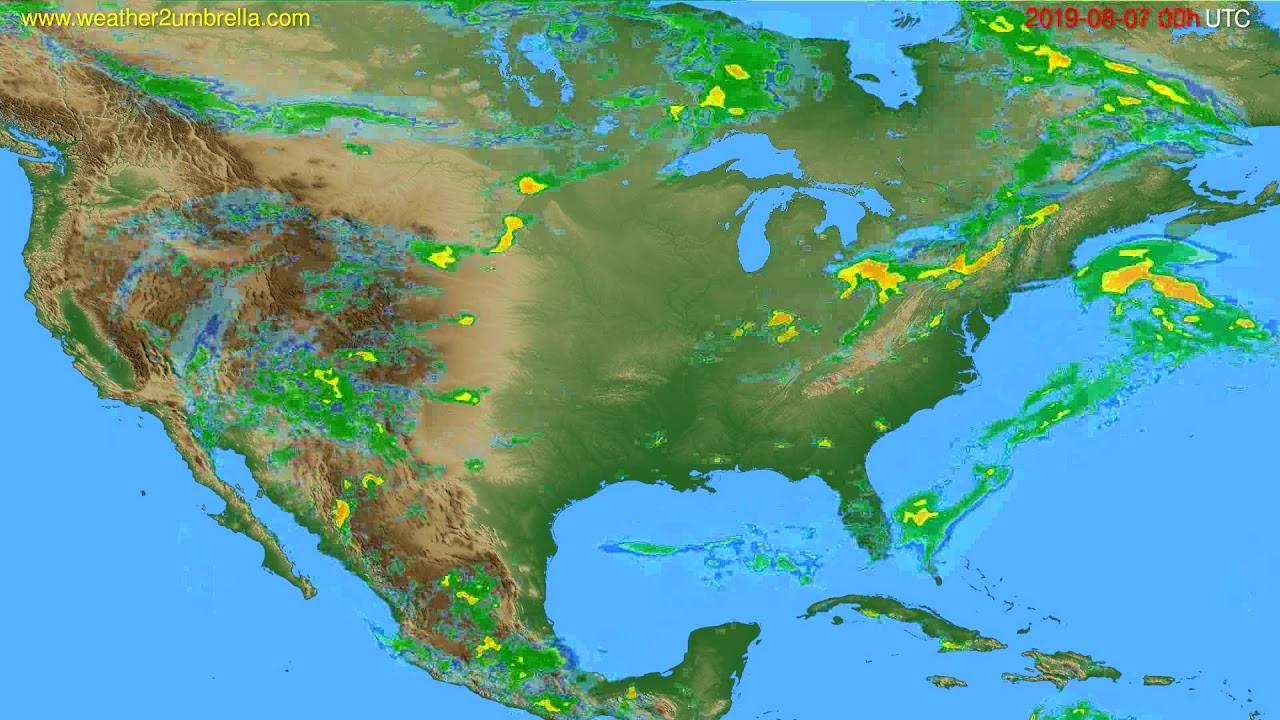 Radar forecast USA & Canada // modelrun: 12h UTC 2019-08-06