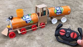 Video How to Make an Electric RC Train (Fanta Train) - Very Simple Toy MP3, 3GP, MP4, WEBM, AVI, FLV Januari 2019